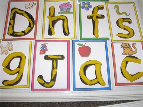 Letter Playdough Mats by Alphabet Play Dough Learning 4