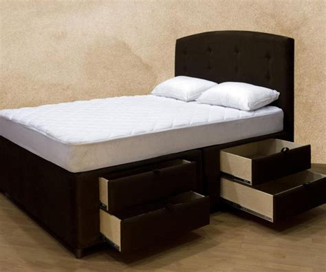 Queen Bed Frame With Drawers In Brilliant Platform Bed Bed Frames With Drawers Underneath