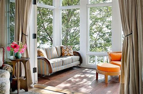 Sun Porch Windows Designs Choosing Sunroom Furniture To Match Your Design Style