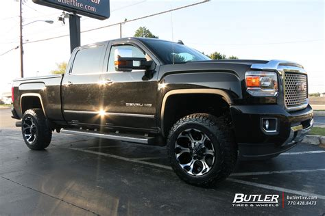 gmc 2500hd custom wheels fuel dune 20x et tire
