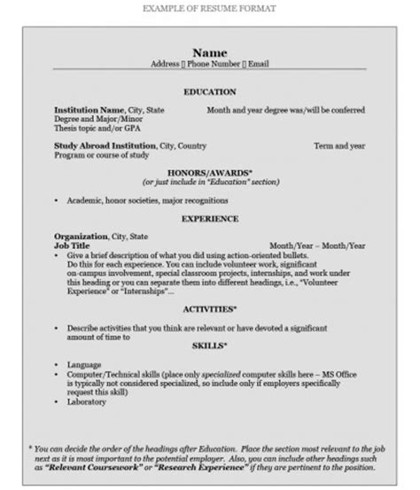 format to write a resume how to write a resume pomona college in claremont