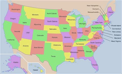 map of the 52 states in usa 52 states of america map