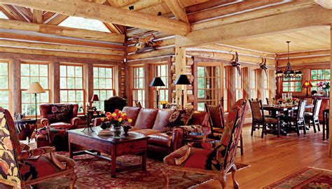Open Floor Plans For Colonial Homes log homes interior photos zak interiors