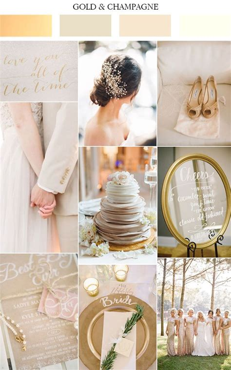 gold wedding colors best 20 chagne wedding colors ideas on
