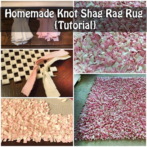 how to make shaggy rag rugs knot shag rag rug tutorial
