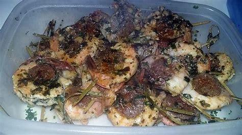 cuisiner gambas surgel馥s recette de brochette de gambas au chorizo