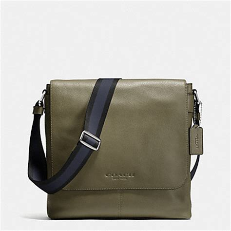 Coach Sulivan Messenger 1 coach f72108 sullivan small messenger in sport calf