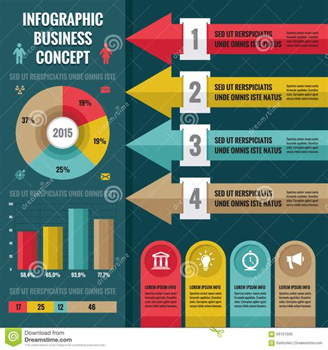web layout design sle business infographic concept layout in flat design style