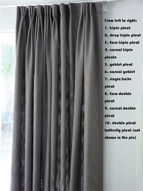 different drapery pleat styles 17 best ideas about pinch pleat curtains on pinterest