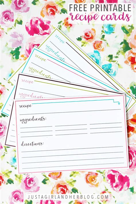 printable recipe cards abby lawson
