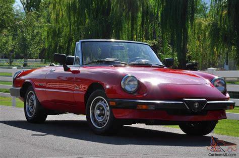 1986 Alfa Romeo Spider Graduate by 1986 Alfa Romeo Graduate Spider Brand New Top Just Installed