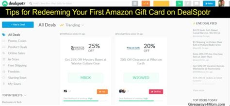 Amazon Gift Card Not Redeemed - tips for redeeming your first amazon gift card on dealspotr