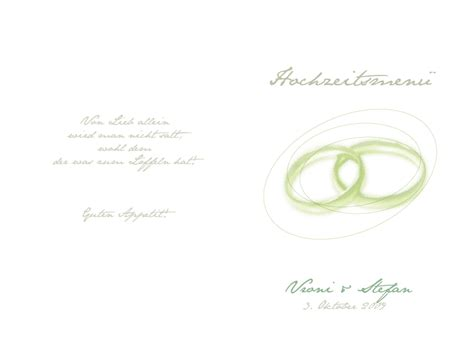 Hochzeitseinladung Deckblatt by F 228 Cher 252 Karten Ringkunst