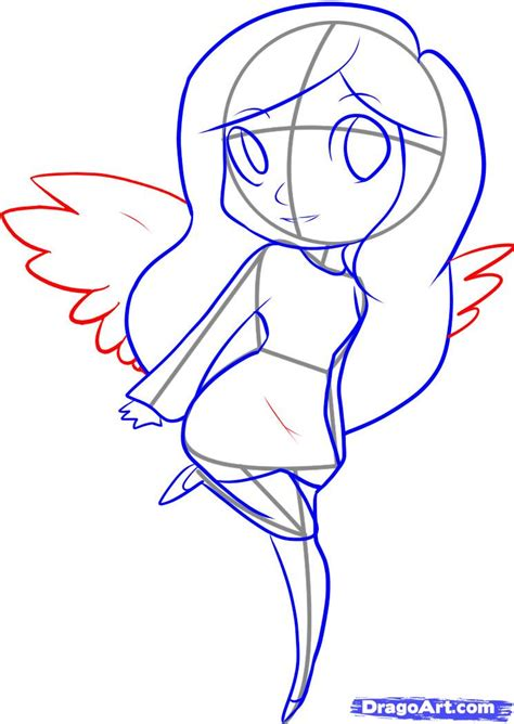 how to draw an easy angel step by step figures people free online drawing tutorial added by