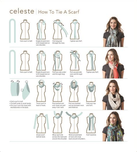 printable instructions to tie a scarf scarf tying love this look pinterest warm projects