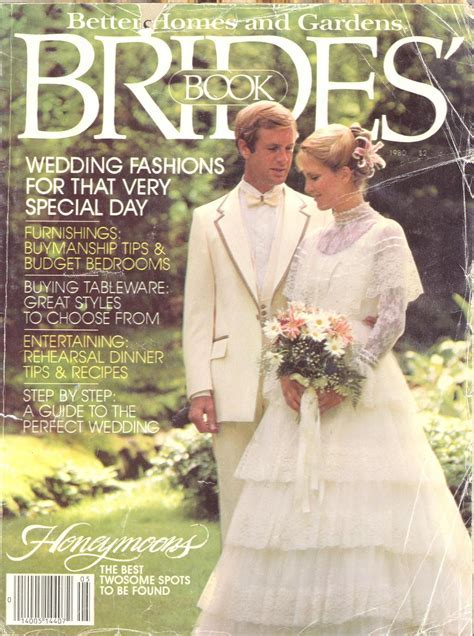 My wedding dress on the cover of a brides magazine in 1980