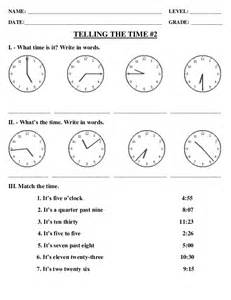 exercise for telling time