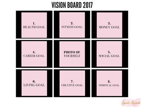 vision board template images free templates ideas