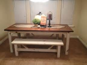 Kitchen Table With Benches Fabulous Kitchen Table With Bench Decor Ideas Bench Bench Decor Bench And Farm