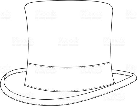 55 printable coloring page of a top hat free top