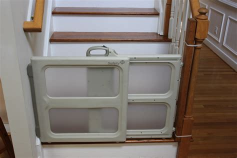 Safety Gates For Stairs With Banisters Installing A Baby Gate Without Drilling Into A Banister