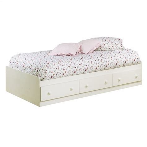 white twin storage bed with headboard south shore summer breeze twin bookcase headboard