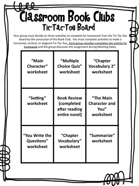 Book Club Worksheets by Fourth Grade Flipper Tried It Tuesday Book Clubs