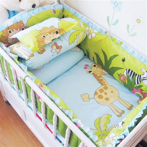 Comfortable 5 Pcs Set Baby Crib Bedding Set Nursery Baby Nursery Cot Bed Sets