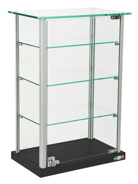 glass display shelves small glass display adjustable shelves locking hinged door