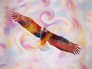 Bird Duvet Cover Rainbow Flying Eagle Watercolor Painting Painting By