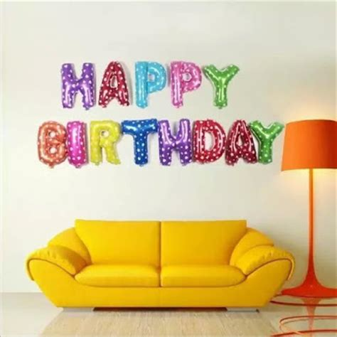 Dijamin Balon Foil Happy Birthday Set 13 Huruf By Esslshop2 balon foil huruf happy birthday rainbow balloon corner