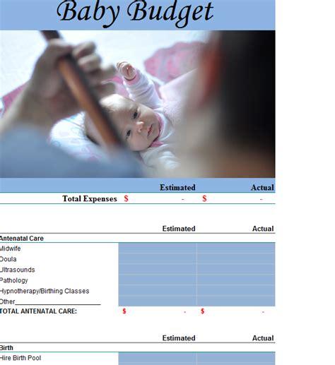 baby budget template baby budget template my excel templates
