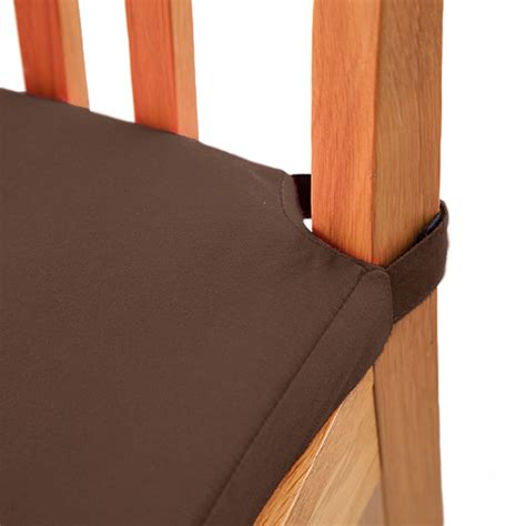 velcro for couch cushions chocolate 1 pack seat pad cushions velcro fastening dining