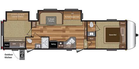 hideout rv floor plans full specs for 2016 keystone hideout 308bhds rvs rvusa com