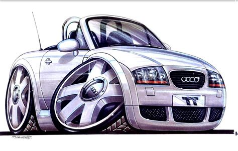 cartoon audi photo ttooned tt concept cartoon drawings album