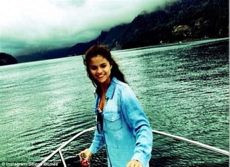 on a boat instagram captions selena gomez enjoys relaxing break as she puts rehab stay