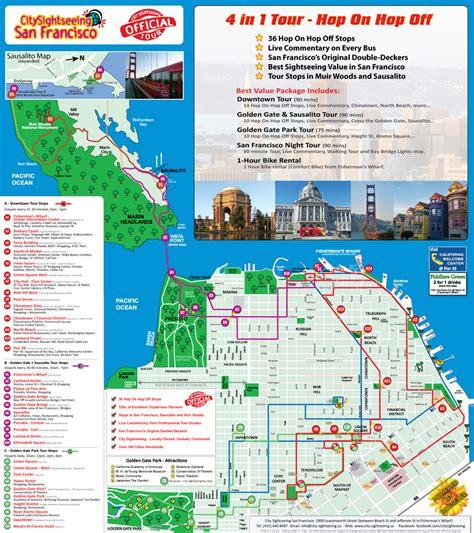 san francisco tourist map pdf california san francisco hop on hop tour