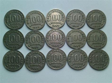 Uang Koin Rp 100 1973 jual 15 keping koin 100 rupiah 1973 tebal koin kuno