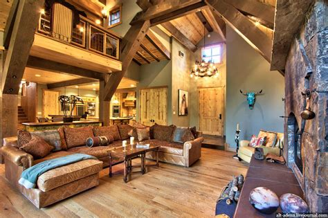 Mountain Home Interiors by Mountain Style Home Decorated In Rustic Style