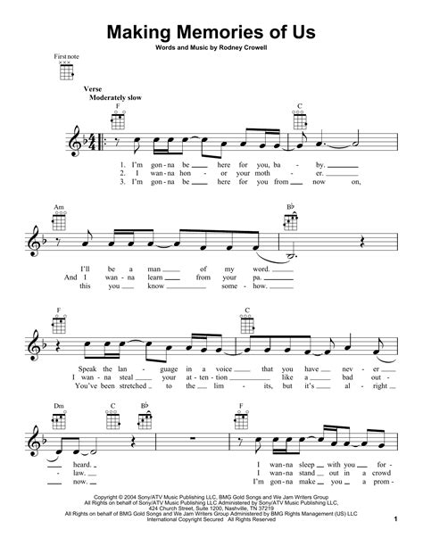keith urban songs guitar chords making memories of us by keith urban ukulele guitar