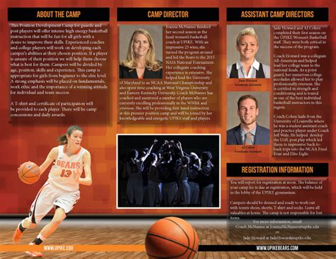 basketball c brochure template 16 basketball c brochures free psd eps ai format