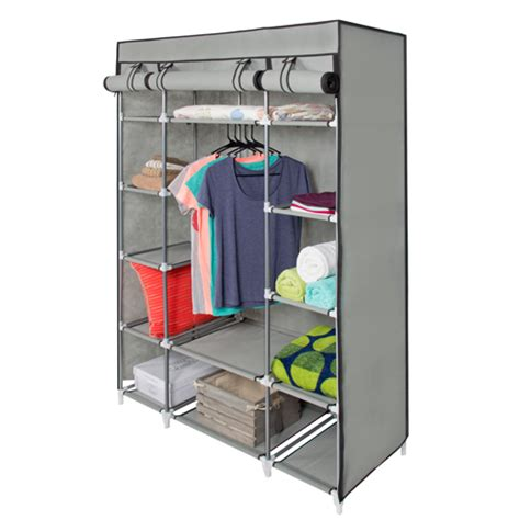 Storage Wardrobe With Shelves by 53 Portable Closet Storage Organizer Wardrobe Clothes Rack With Shelves
