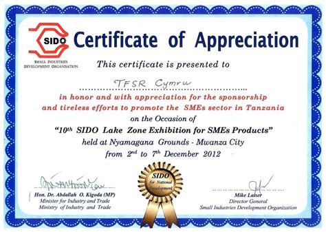 formal certificate of appreciation template best and