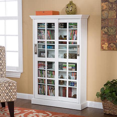 Sliding Door Media Cabinet White 6221924 Hsn Dvd Storage Cabinet With Sliding Doors