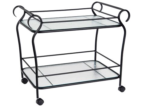 woodard ramsgate aluminum serving cart 166483