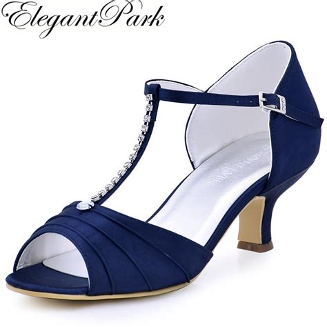 Top Five Navy Heels by Aliexpress Buy Shoes Navy Blue Low Heel