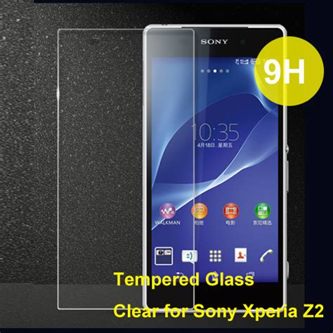 Tempred Glass Sony Experia Z2 Clear rounded edge tempered glass screen protector clear for
