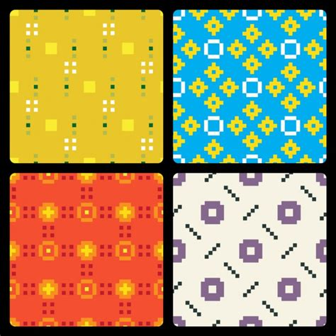 pixel pattern ai pixel pattern collection vector free download