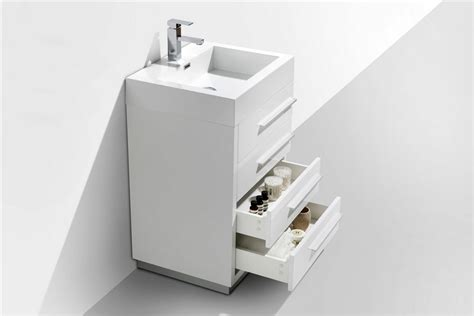 24 white bathroom vanity with drawers 24 quot high gloss white modern bathroom vanity w four drawers