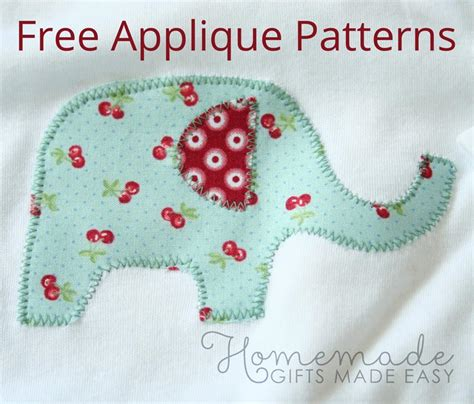 how to sew applique free applique patterns